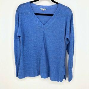Eileen Fisher 100%Linen VNeck Long Sleeve Pullover